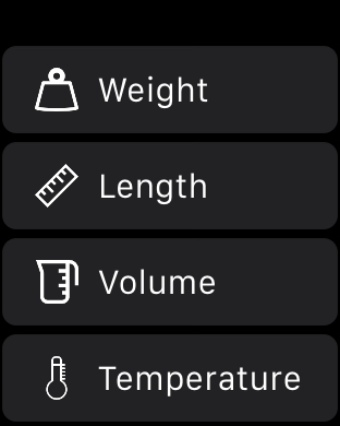 Unit Converter - Apple Watch