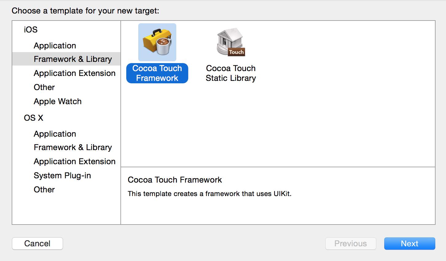 Xcode Swift Framework Target