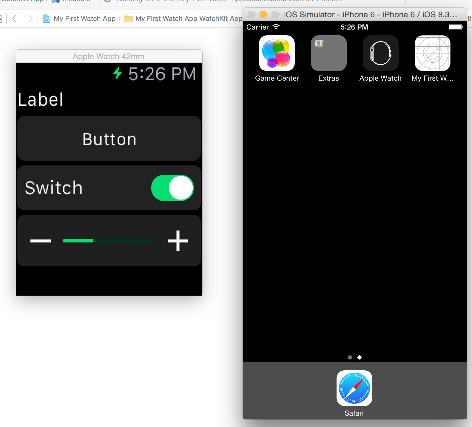 WatchKit App Demo 2