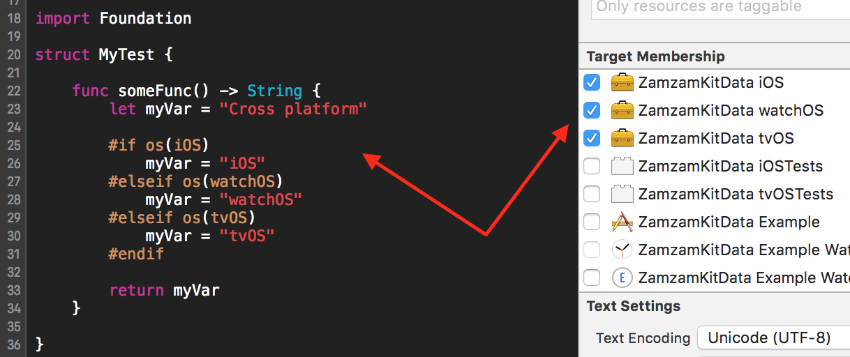 Creating Swift Frameworks for iOS, watchOS, and tvOS via